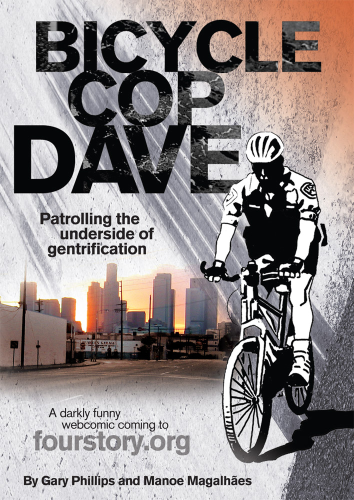 """Bicycle_Cop_Dave_postcard_front Gary Phillips Debuts His Latest Work """"Bicycle Cop Dave"""" October 28th"""