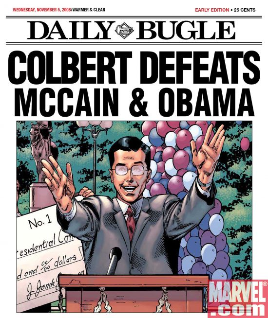 Colbert_Wins Election Confusion In The Marvel Universe