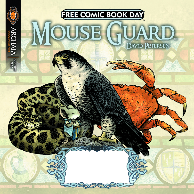 FCBD-2011_Mouse-Guard Final covers to Archaia's 2011 Free Comic Book Day revealed
