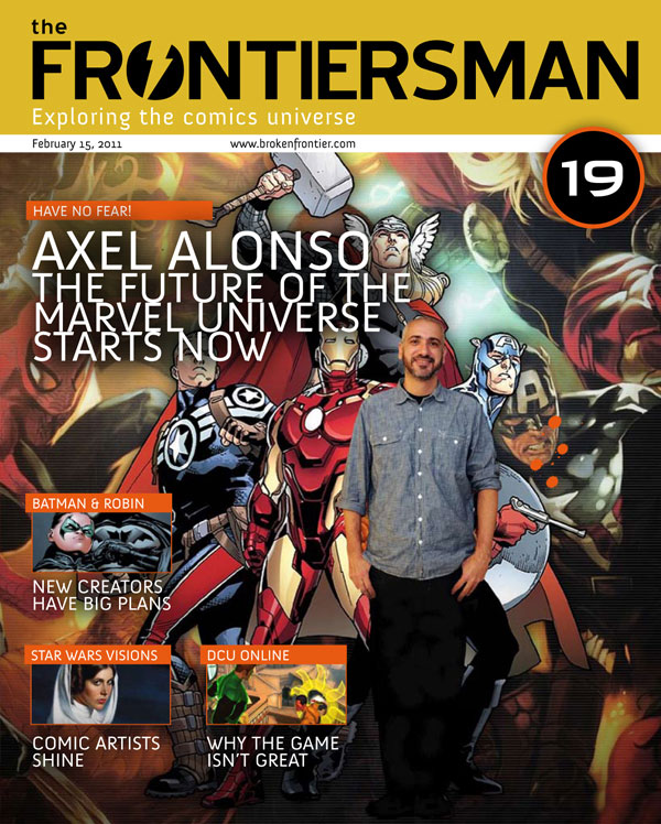 FM19cvr THE FRONTIERSMAN #19: Axel Alonso and the future of Marvel