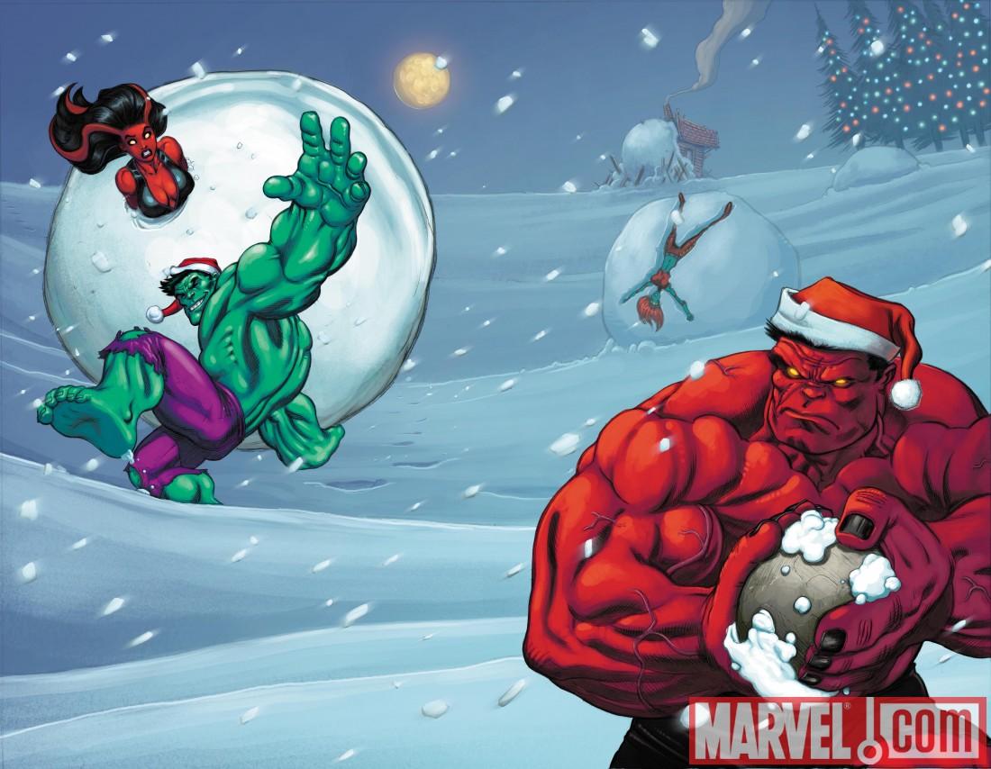 FallOfTheHulksGamma_Hulk18_SantaVariants Hulk and Rulk smash your holiday season (updated!)
