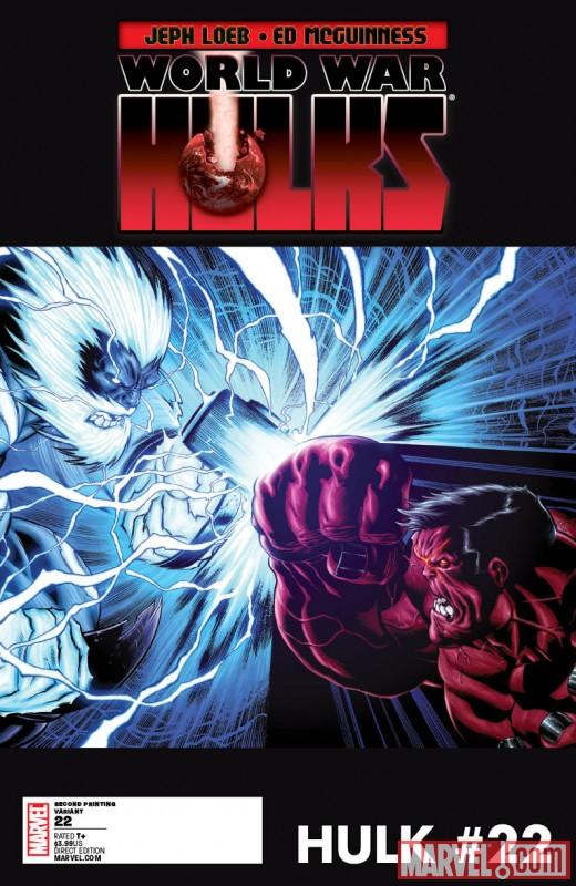 Hulk_22_SecondPrintingVariant HULK, NEW ULTIMATES and ULTIMATE COMICS X get new printings