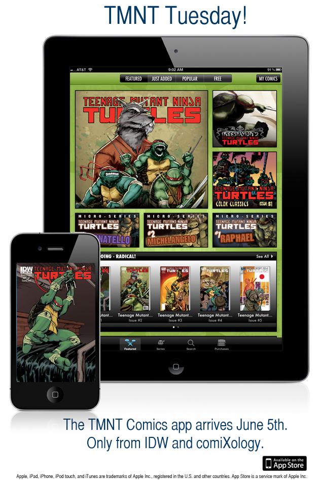 IDW_TMNT IDW announces Teenage Mutant Ninja Turtles i-app