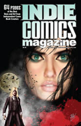 Indie_Comics_Magazine_6Cover Haunted Eyes Painting on Indie Comics Magazine #6 cover