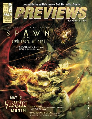 MarchPREVIEWSFrontCover March PREVIEWS Spotlights Spawn Month