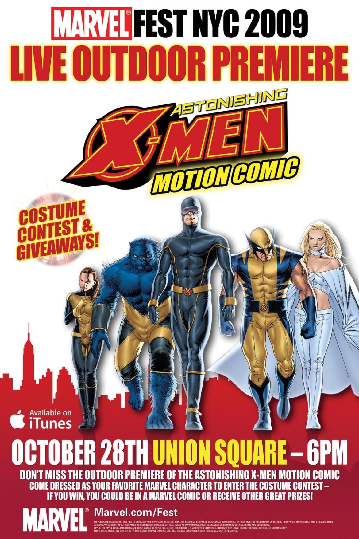MarvelFestNYC2009 MarvelFest NYC 2009 Celebrates Astonishing X-Men Motion Comic