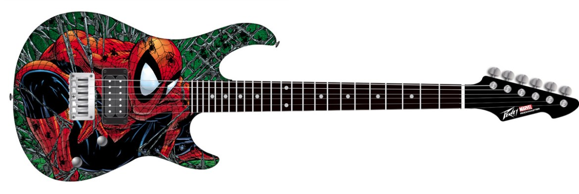 PeaveySDCCGuitar_smaller AFX brings exclusive Peavey Spider-Man Electric Guitar to SDCC 2012