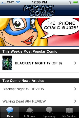 PocketComic002 AT Media Releases POCKET COMIC iPhone App; Features ComicList Content