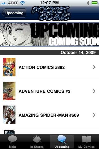 PocketComic003 AT Media Releases POCKET COMIC iPhone App; Features ComicList Content