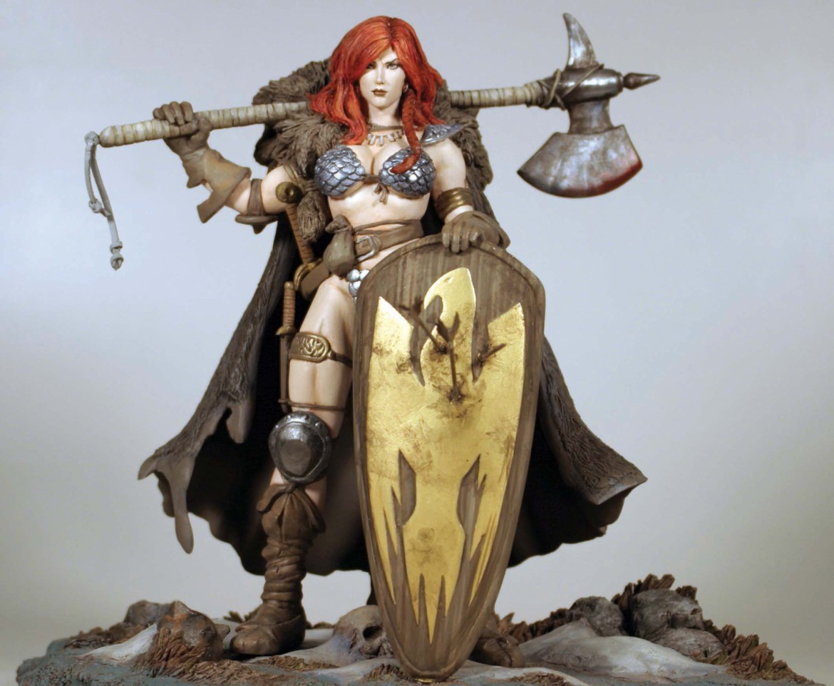 RSChoStatue01 Iconic RED SONJA Cover will be available as a statue soon