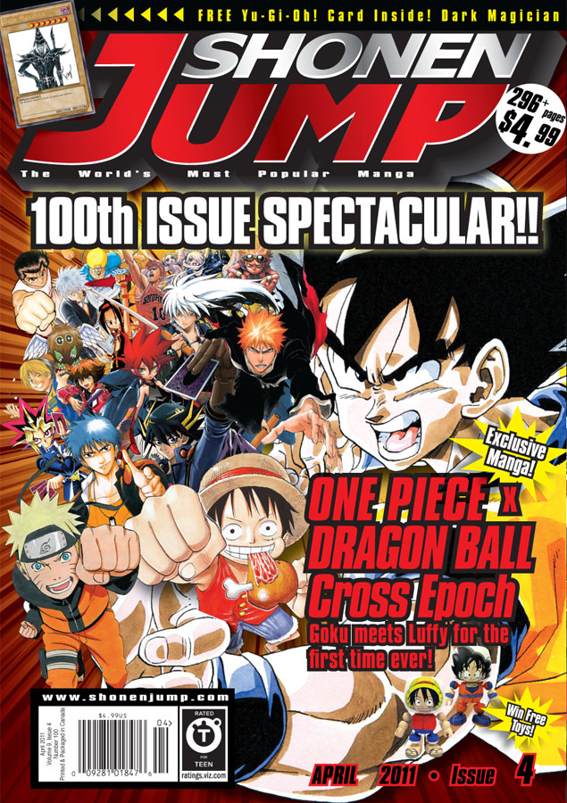SJ100-April11-Cover SHONEN JUMP to pay homage to great manga heros