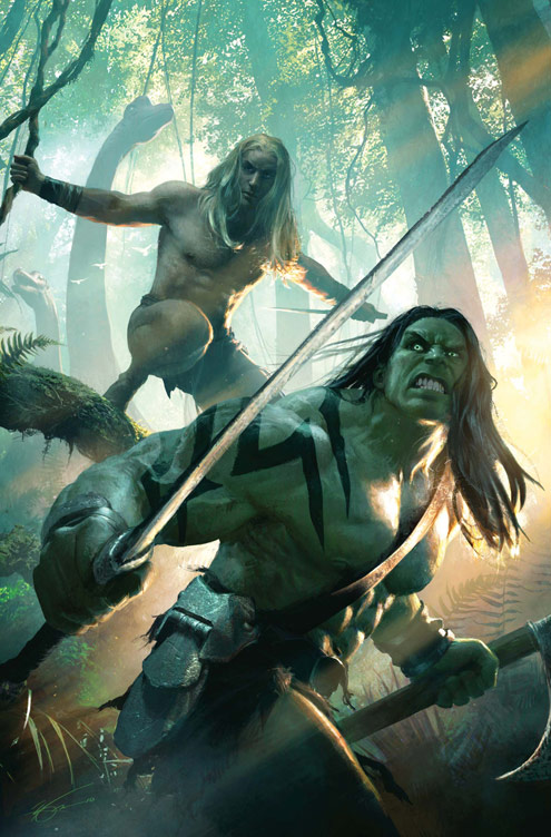 SKAAR_KINGOFTHESAVAGELAND_1_COVER Skaar invades the Savage Land this March