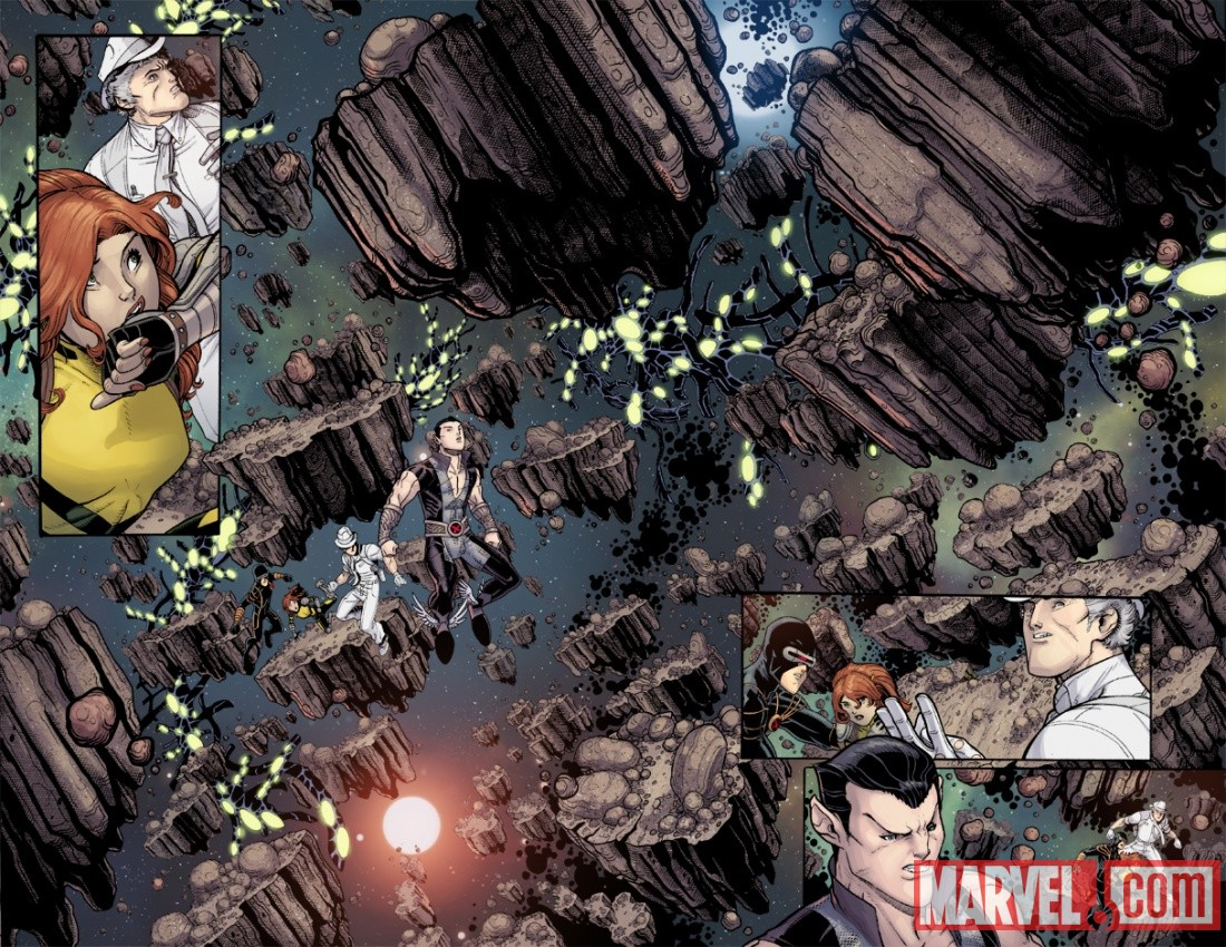 UNCANNYXMENANNUAL_3_PREVIEW5 Steve Rogers, The X-Men and Namor Must ESCAPE FROM THE NEGATIVE ZONE