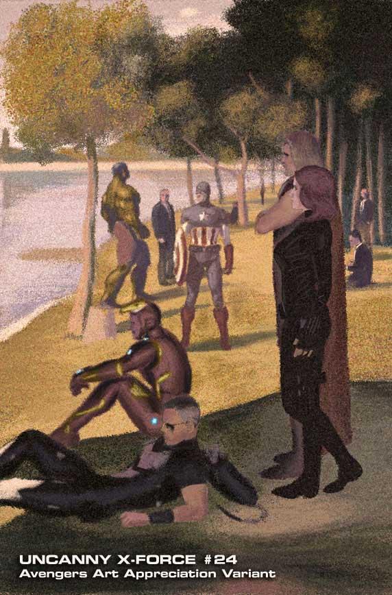 Uncanny-X-Force-24-JulianTotino Marvel discloses Avengers Art Appreciation Variant Covers