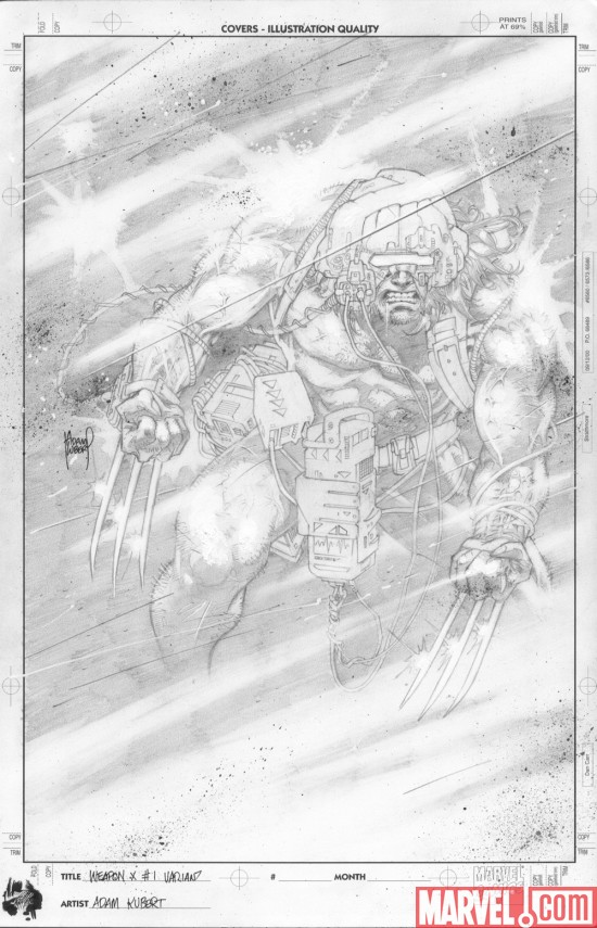 Wolverine_WeaponX__01_KubertSketchCover Marvel Unveils Variant Covers To WOLVERINE: WEAPON X #1