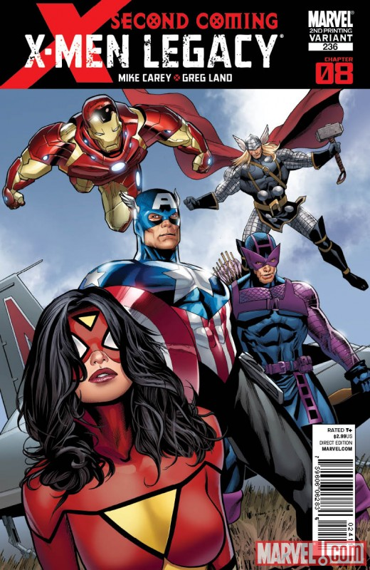 XMENLEGACY236_2ND X-Factor #205 and X-Men Legacy #236 get second printings