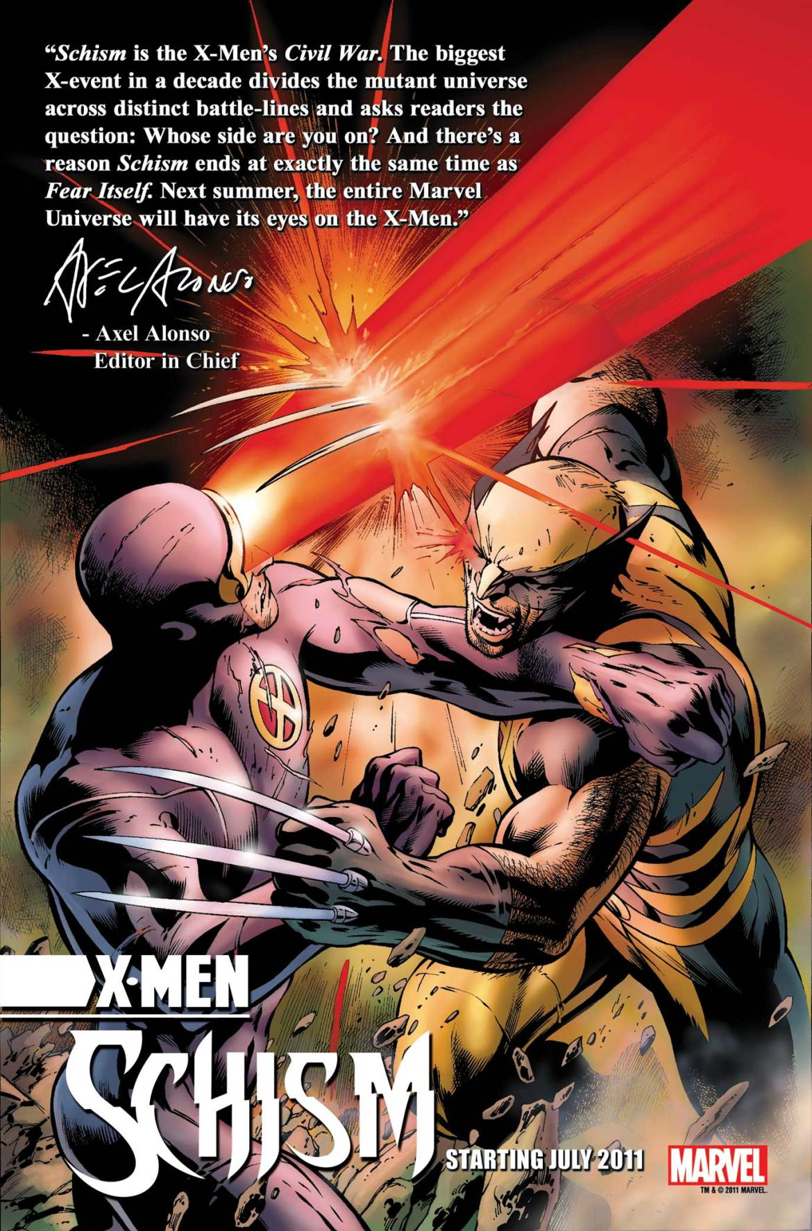 XMEN_SCHISM_Teaser X-MEN: SCHISM erupts into civil war, which can't be good