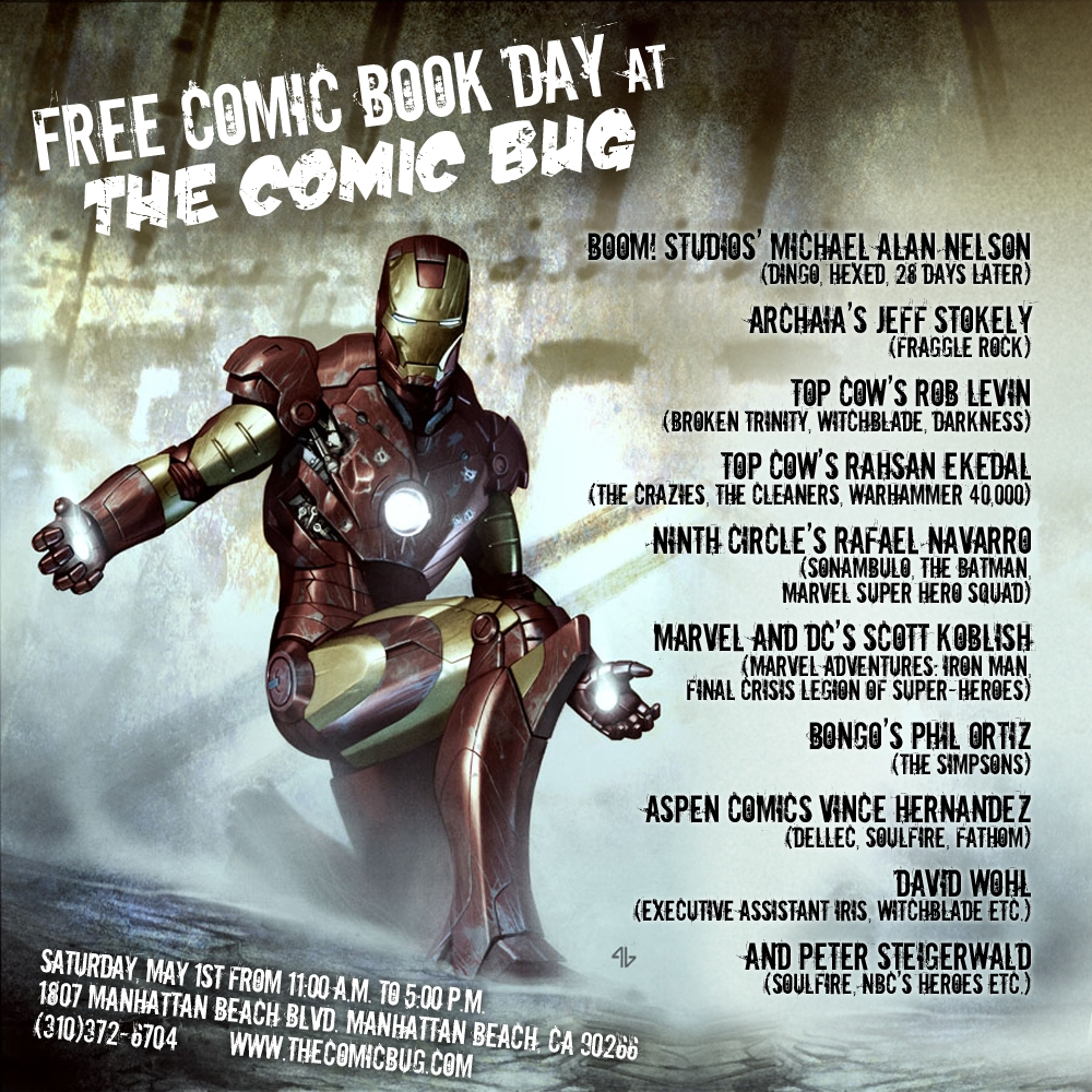 ironmanFCBD_banner COMIC BUG and Los Angeles creators team up for Free Comic Book Day