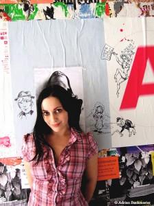 "mollycrabapple-225x300 CBLDF auctions Molly Crabapple original ""art monster"""