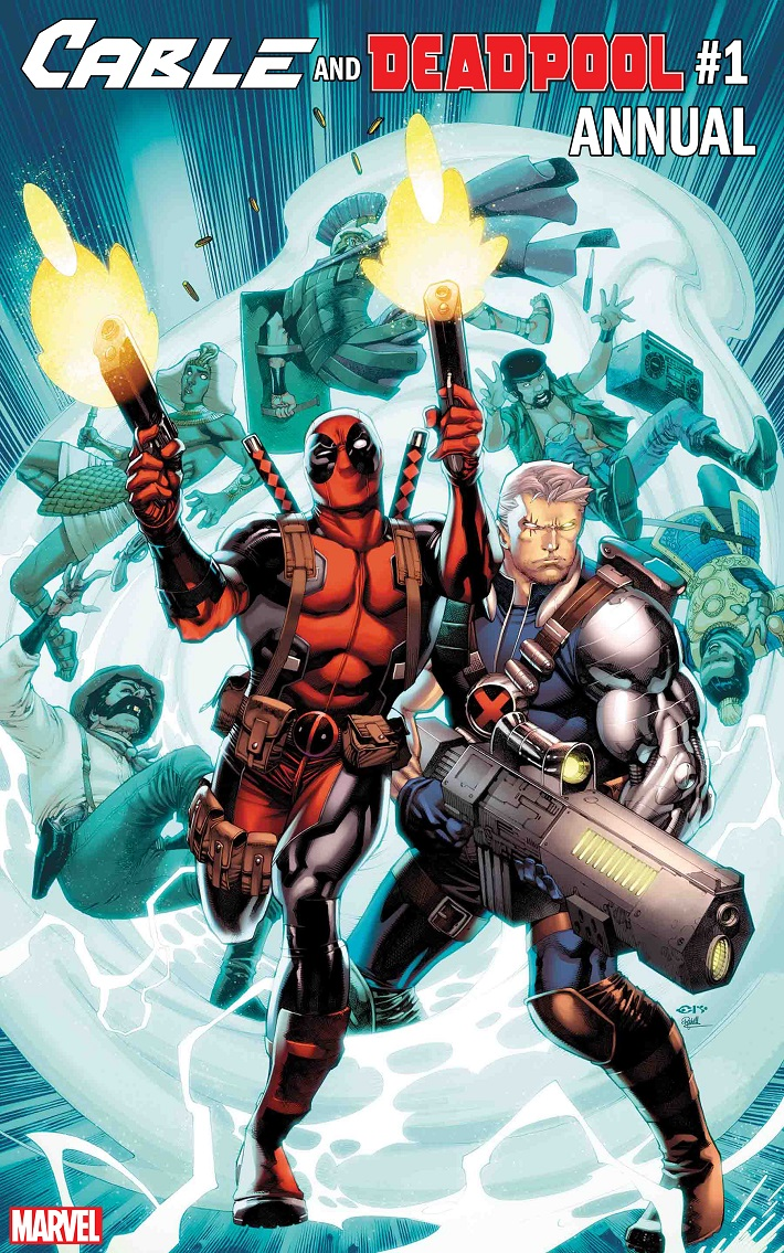 CABLE-DEADPOOL-ANNUAL-CVR CABLE AND DEADPOOL go on a time-travel mission this August