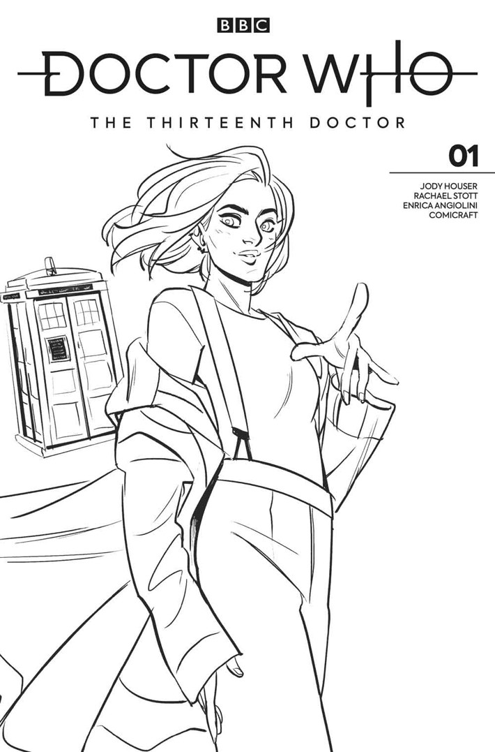 DW13D_1_Cover_L_BABS_TARR_BW_ART Titan reveals DOCTOR WHO THE THIRTEENTH DOCTOR variant covers
