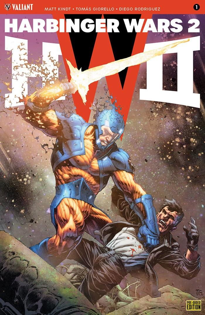 HW2_001_PRE-ORDER_GIORELLO Valiant's HARBINGER WARS 2 earns a Pre-Order Edition Bundle