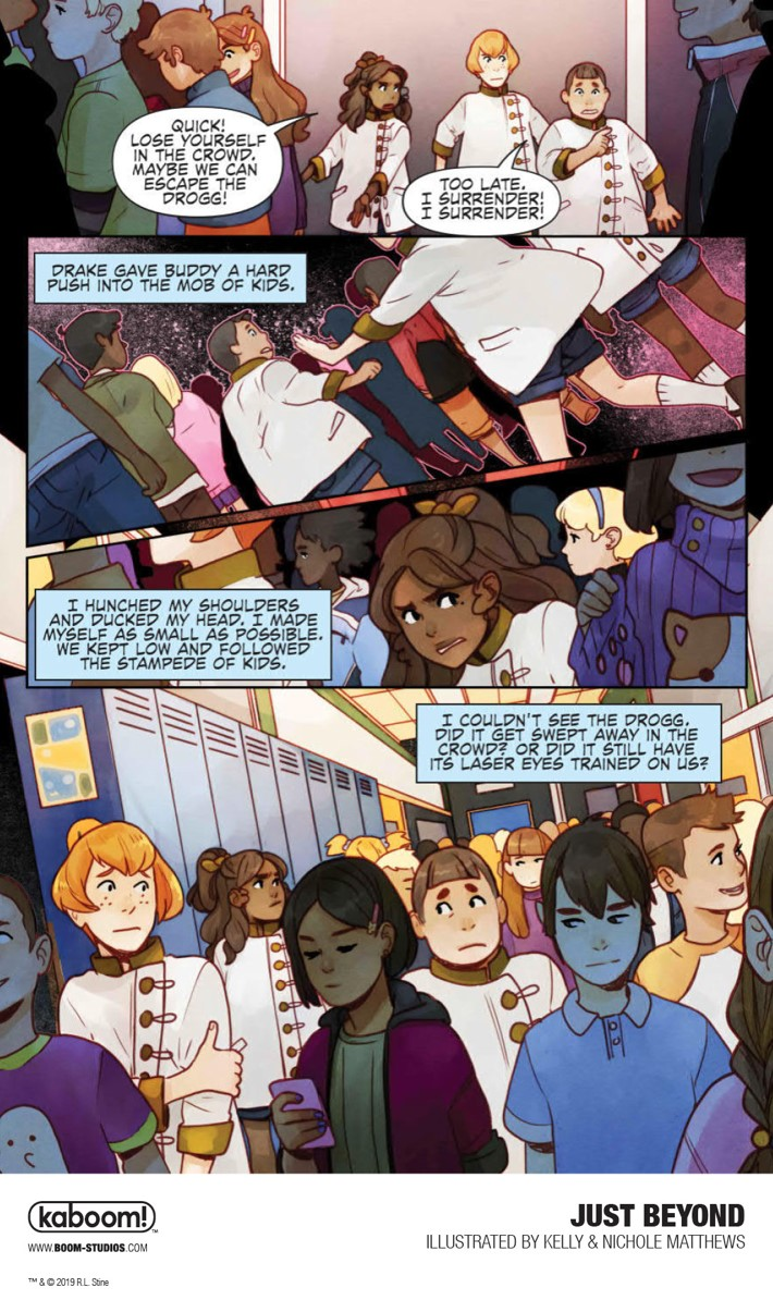 JustBeyond_OGN_InteriorArt_010_PROMO First Look at BOOM! Studios' JUST BEYOND: THE SCARE SCHOOL GN