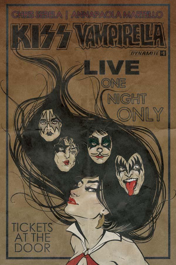 KissVampiCovBIdhe Rock 'n roll legends KISS meet horror comics icon VAMPIRELLA