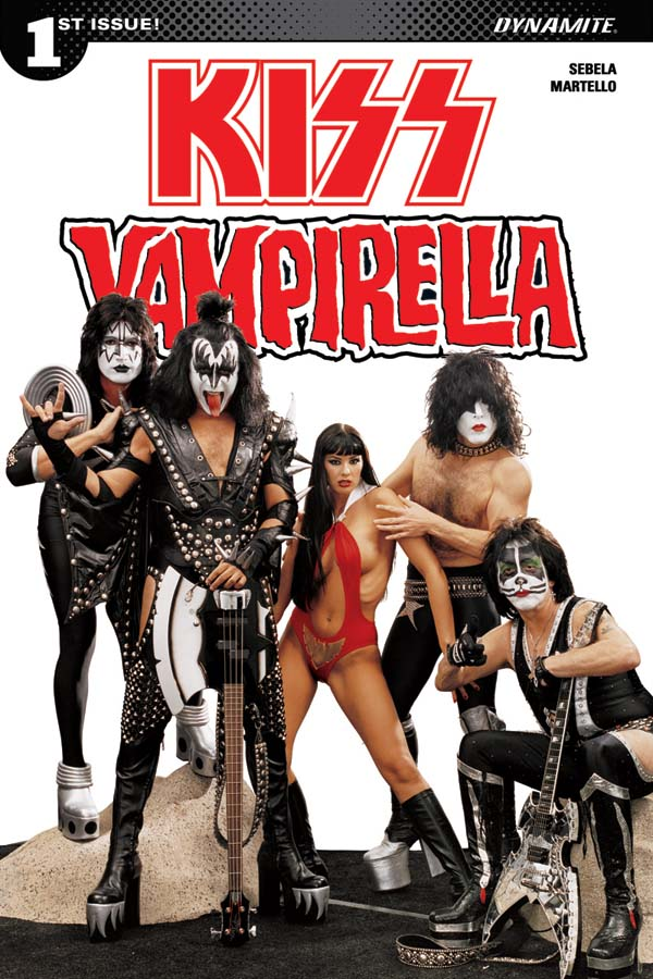 KissVampiCovDPhoto Rock 'n roll legends KISS meet horror comics icon VAMPIRELLA