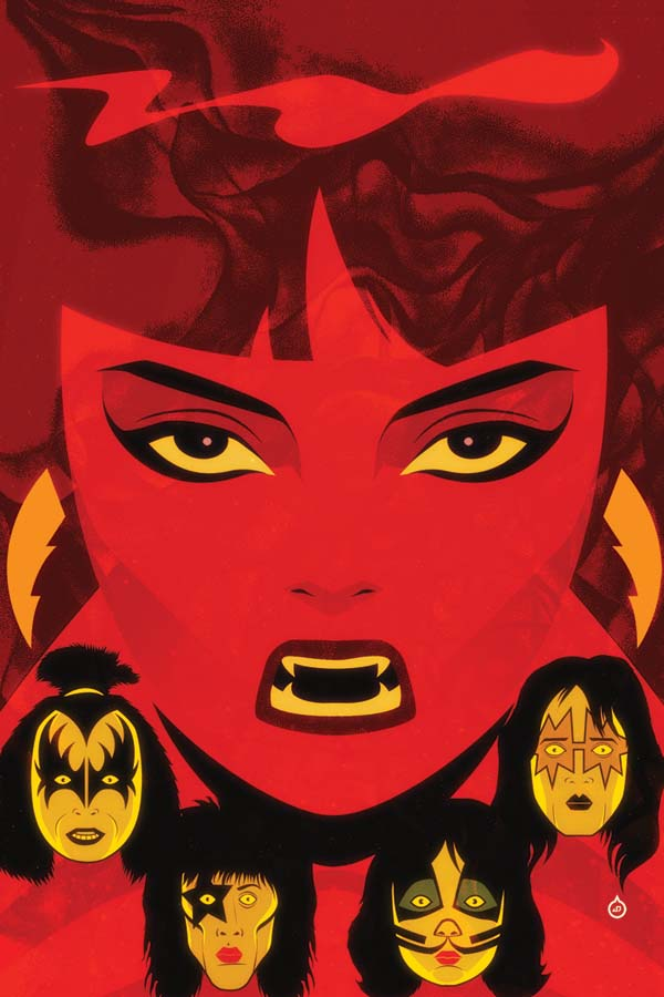 KissVampiCovIIncen40DoeVirg Rock 'n roll legends KISS meet horror comics icon VAMPIRELLA