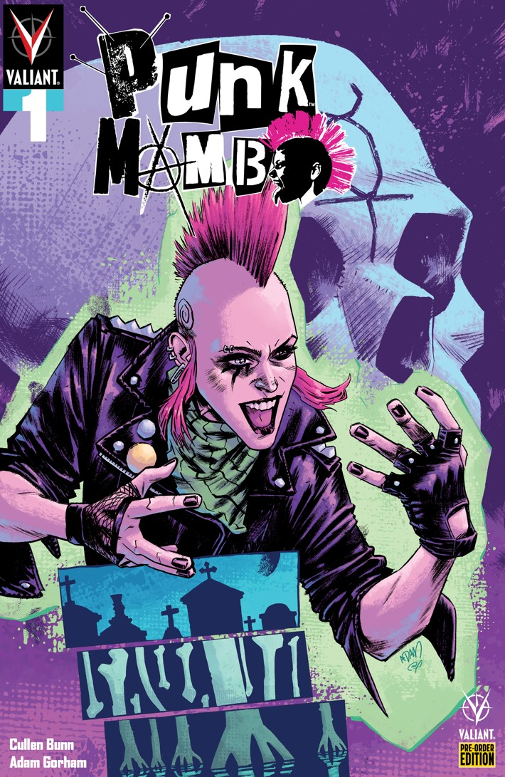 PUNK_001_COVER-VARIANT_PRE-ORDER_GORHAM PUNK MAMBO #1-5 Pre-Order Bundle to contain free song download