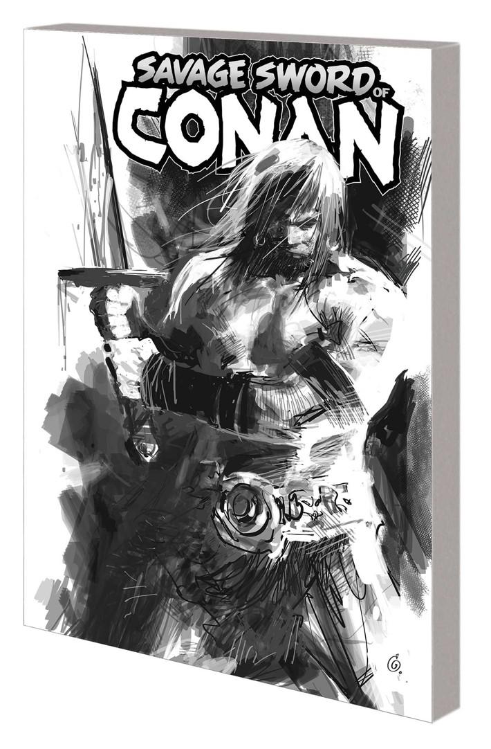 SSOCONAN_VOL_1_BW_TPB Conan's THE CULT OF KOGA THUN returns in black and white