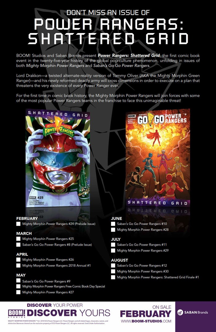 cc2c304d-0db4-4176-945c-d5e9b434dcce BOOM! Studios and Saban Brands reveal brand new Power Ranger
