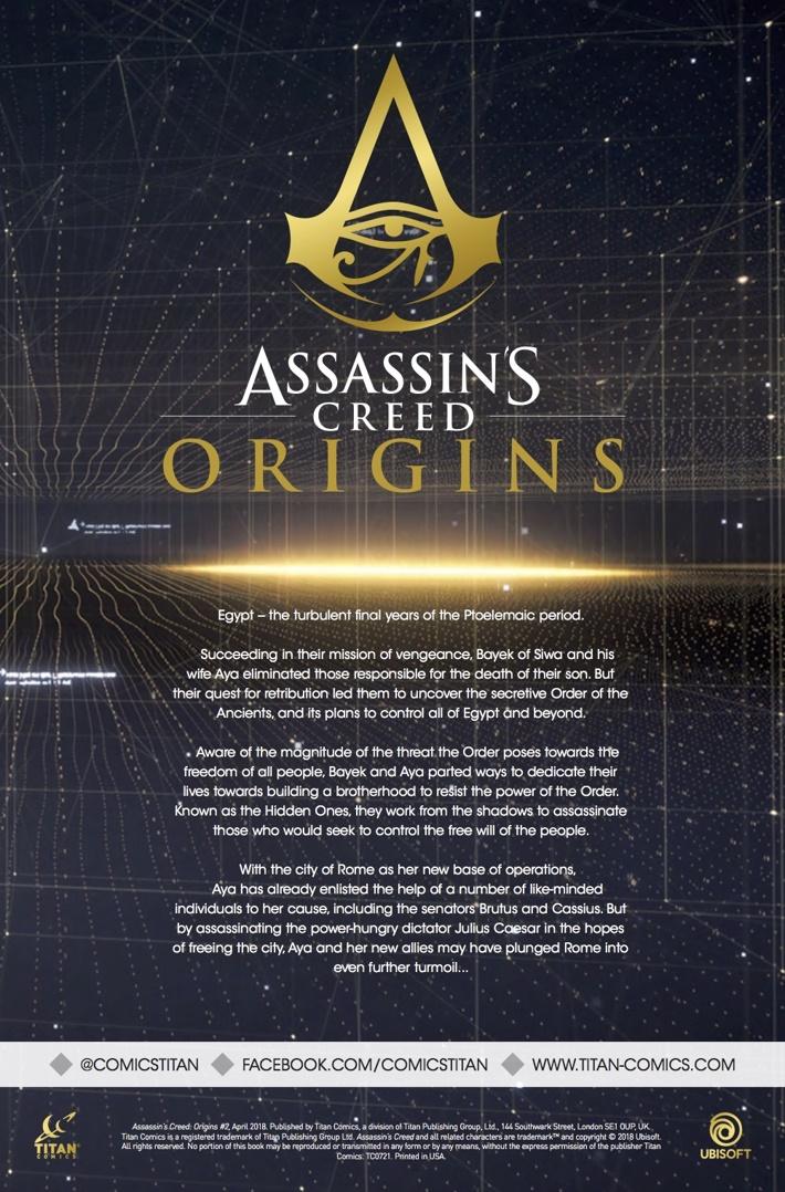 Assassins_Creed_Origins_2_Synopsis ComicList Previews: ASSASSIN'S CREED ORIGINS #2