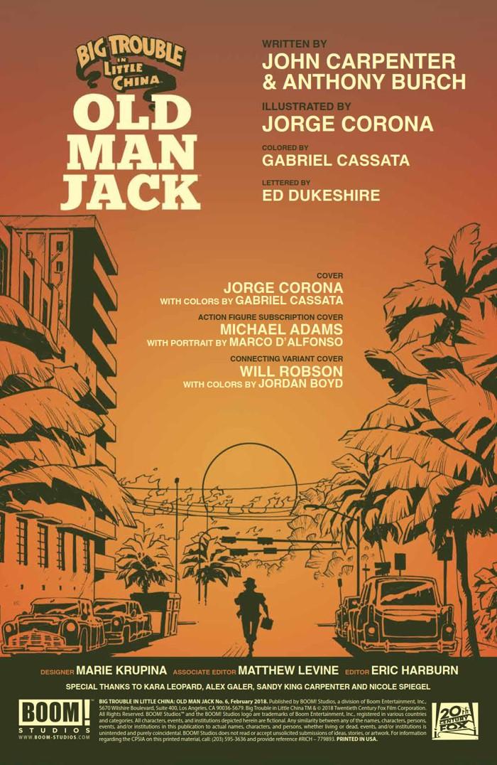 BTLC_OMJ_006_PRESS_2 ComicList Previews: BIG TROUBLE IN LITTLE CHINA OLD MAN JACK #6