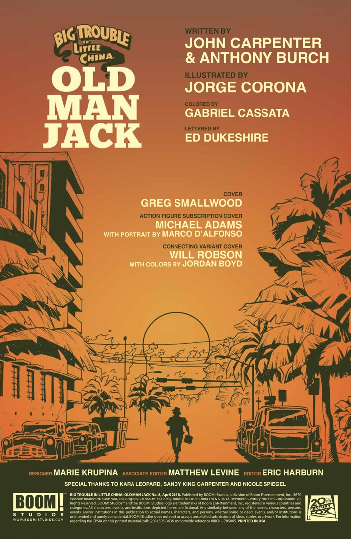 BTLC_OMJ_008_PRESS_2 ComicList Previews: BIG TROUBLE IN LITTLE CHINA OLD MAN JACK #8