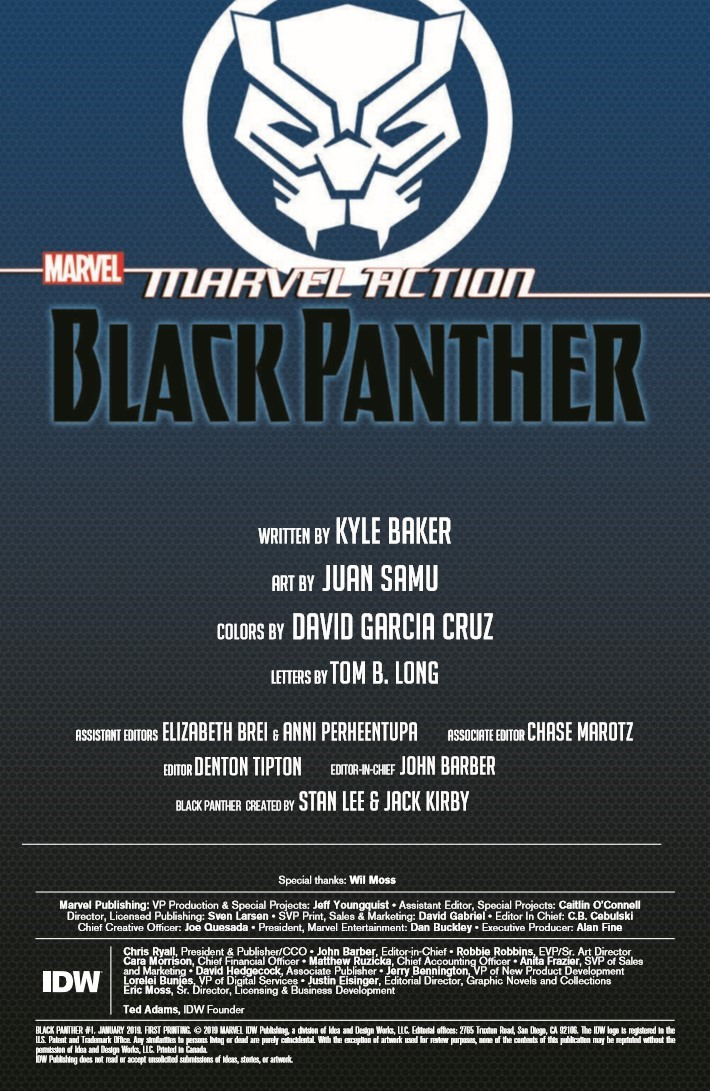Black_Panther_01-pr-2 ComicList Previews: MARVEL ACTION BLACK PANTHER #1