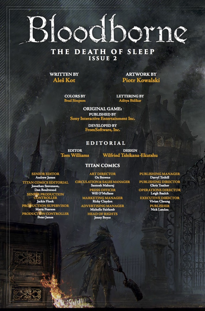 Bloodborne_2_Credits ComicList Previews: BLOODBORNE #2