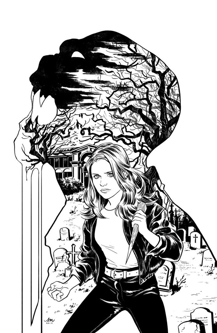 Buffy_002_F_Variant_Mok_INK ComicList Previews: BUFFY THE VAMPIRE SLAYER #2