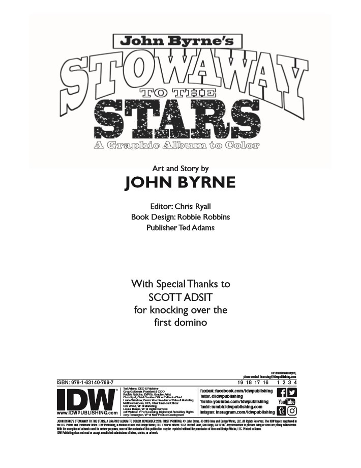 ColoringBook-JohnByrne-pr-2 ComicList Previews: JOHN BYRNE'S STOWAWAY TO THE STARS #1 (SPECIAL EDITION)