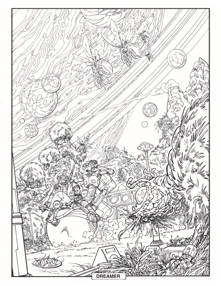 ColoringBook-JohnByrne-pr-5 ComicList Previews: JOHN BYRNE'S STOWAWAY TO THE STARS #1 (SPECIAL EDITION)