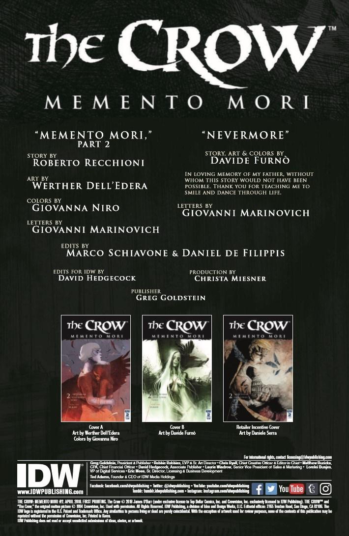 Crow_MementoMori_02-pr-2 ComicList Previews: THE CROW MEMENTO MORI #2