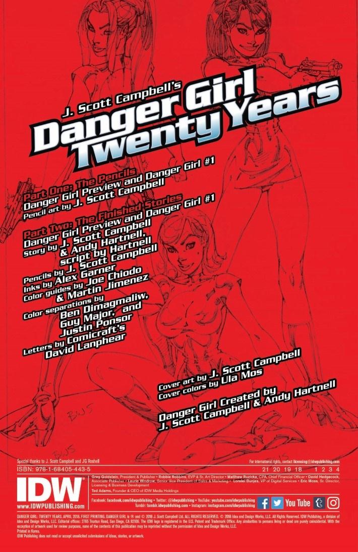 DG_20thAnniversary_reg-pr-2 ComicList Previews: J. SCOTT CAMPBELL'S DANGER GIRL 20TH ANNIVERSARY #1