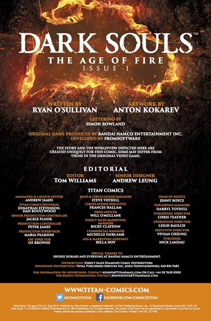 Dark_Souls_Age_of_Fire_1_Credits ComicList Previews: DARK SOULS THE AGE OF FIRE #1