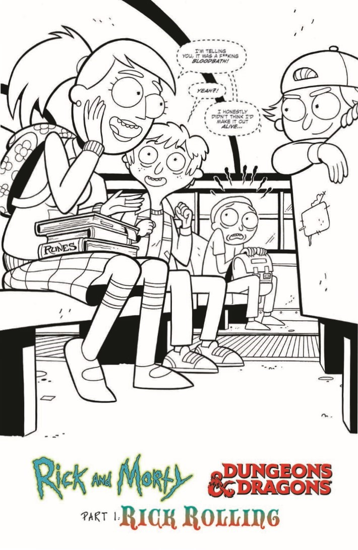 Dungeons_and_Dragons_Rick_Morty_Directors_Cut-pr-3 ComicList Previews: RICK AND MORTY VS DUNGEONS AND DRAGONS #1 DIRECTOR'S CUT
