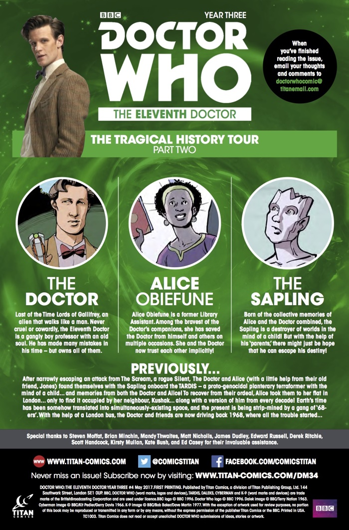 Eleventh_Doctor_3_4_Credits ComicList Preview: DOCTOR WHO THE ELEVENTH DOCTOR YEAR THREE #4