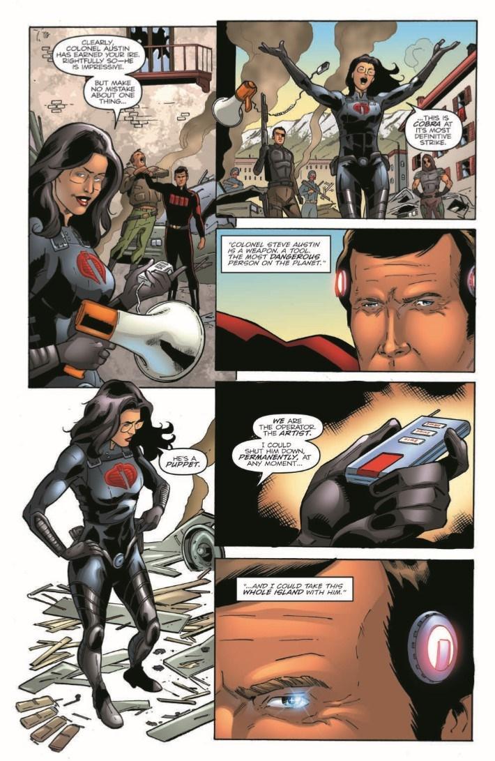GIJoeRAH_6million_03-pr-5 ComicList Previews: G.I. JOE A REAL AMERICAN HERO VS THE SIX MILLION DOLLAR MAN #3