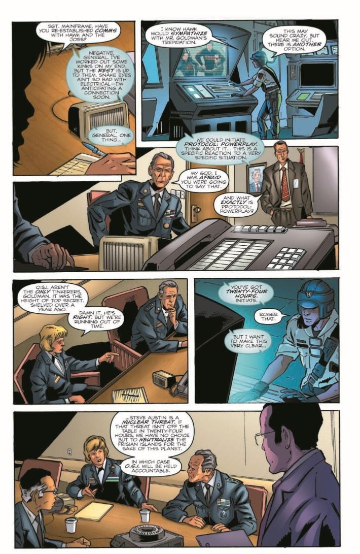 GIJoe_vs_6MilMan_02-pr-4 ComicList Previews: G.I. JOE A REAL AMERICAN HERO VS THE SIX MILLION DOLLAR MAN #2