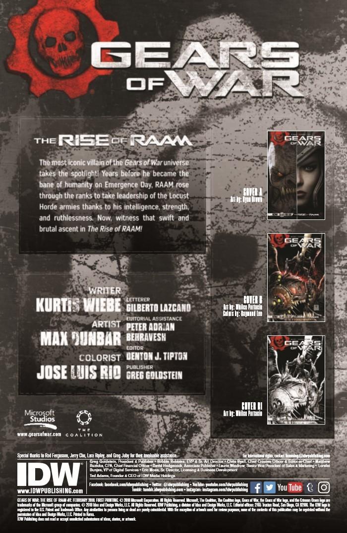 GearsofWar_02-pr-2 ComicList Previews: GEARS OF WAR THE RISE OF RAAM #2
