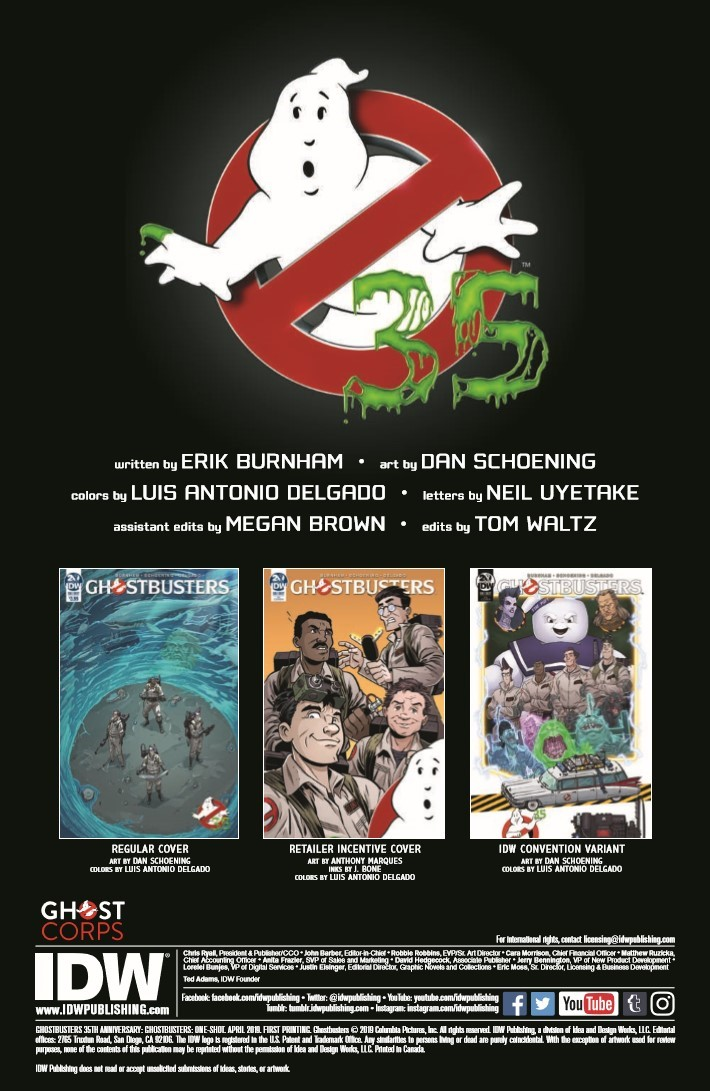 Ghostbusters_35th_Anniversary_Prime-pr-2 ComicList Previews: GHOSTBUSTERS 35TH ANNIVERSARY GHOSTBUSTERS #1